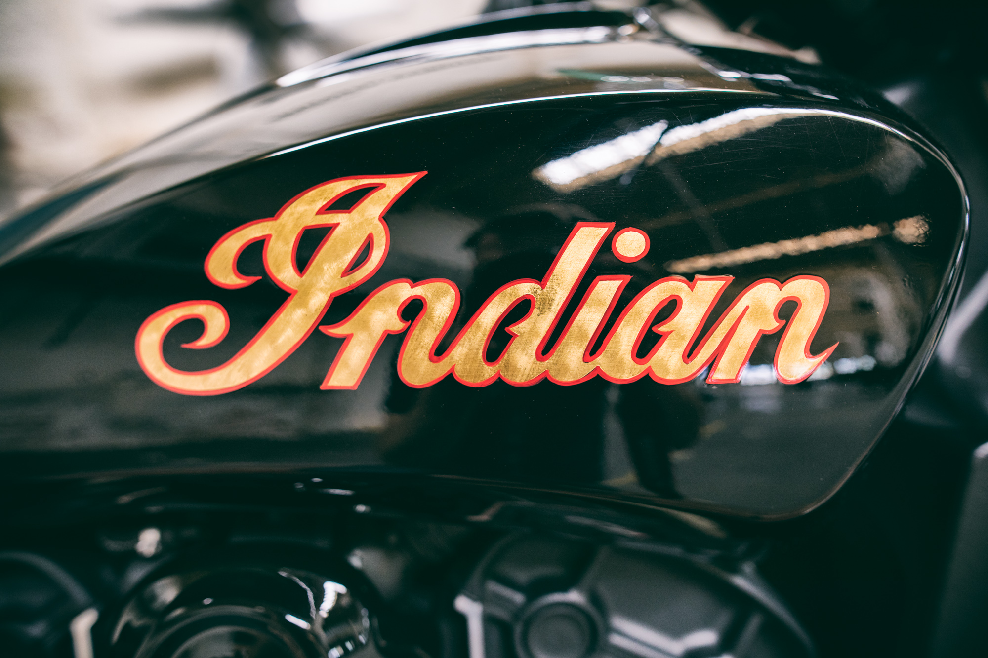 Indian Scout Custom Logo Gold