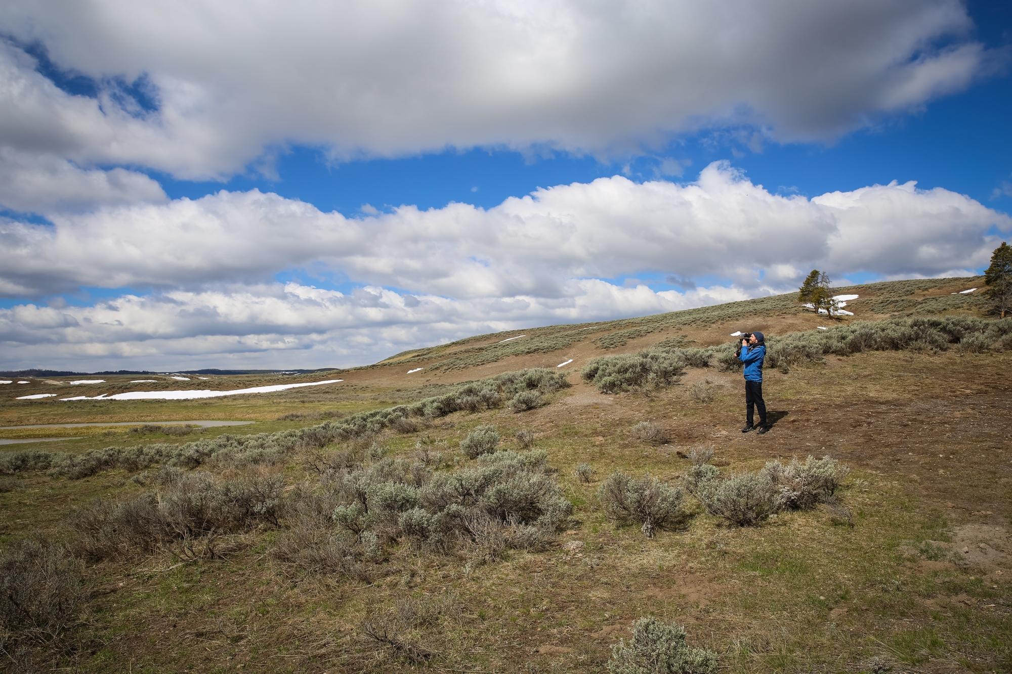 Christian in Yellowstone (by Katalin Hanappi)