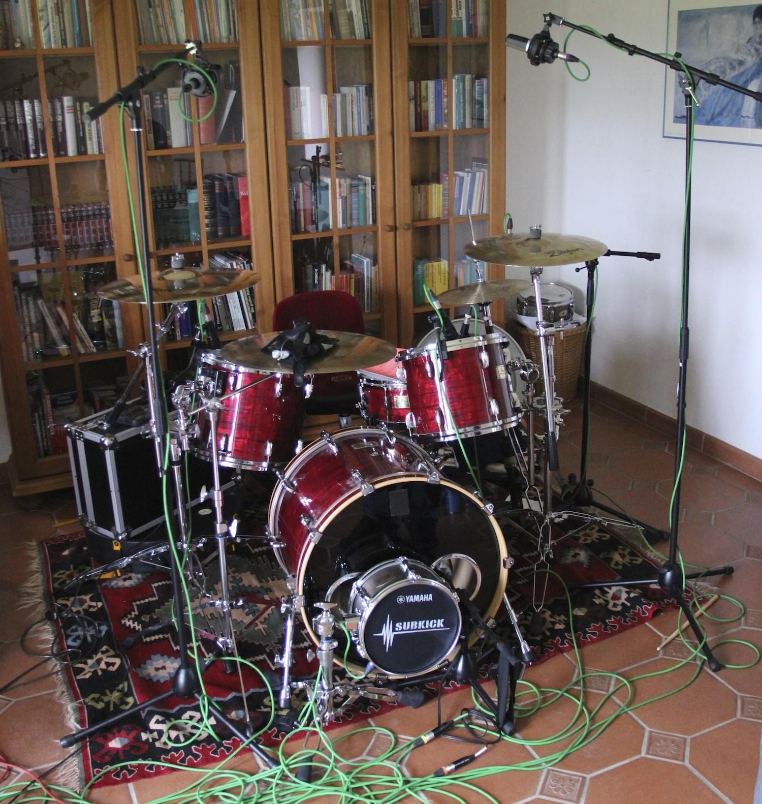 Drumset im Studio