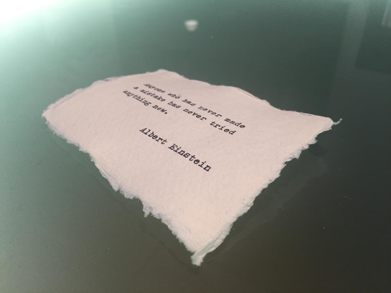 Pergament mit Zitat