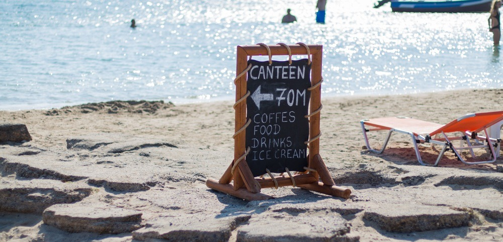 Canteen Sign in Crete