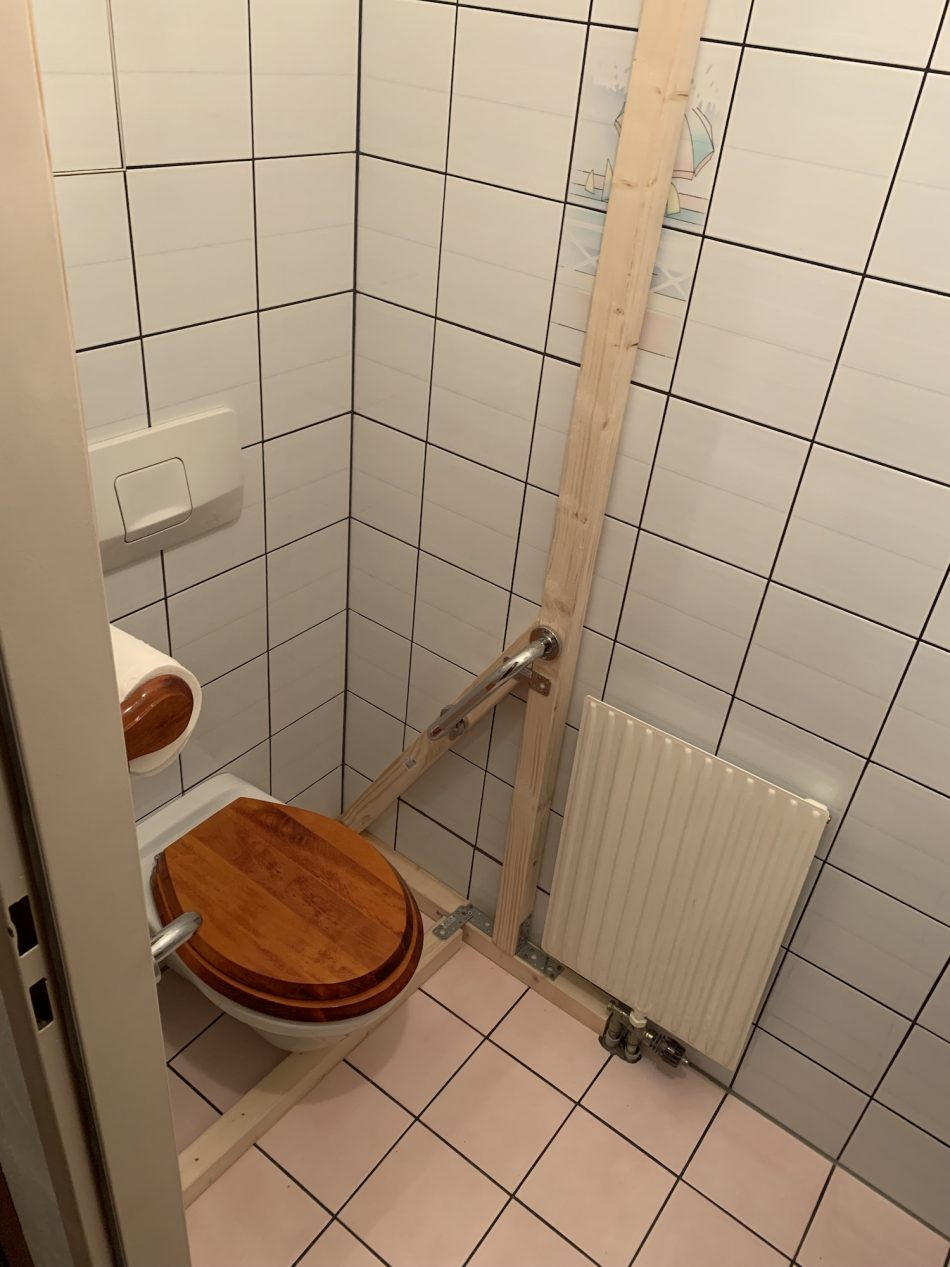 Konstruktion am WC